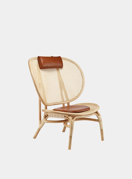 Aniline Leather / Natural Nomad Chair