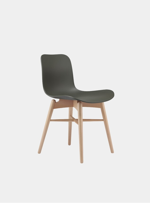 Army Green / Natural Langue Dining Chair