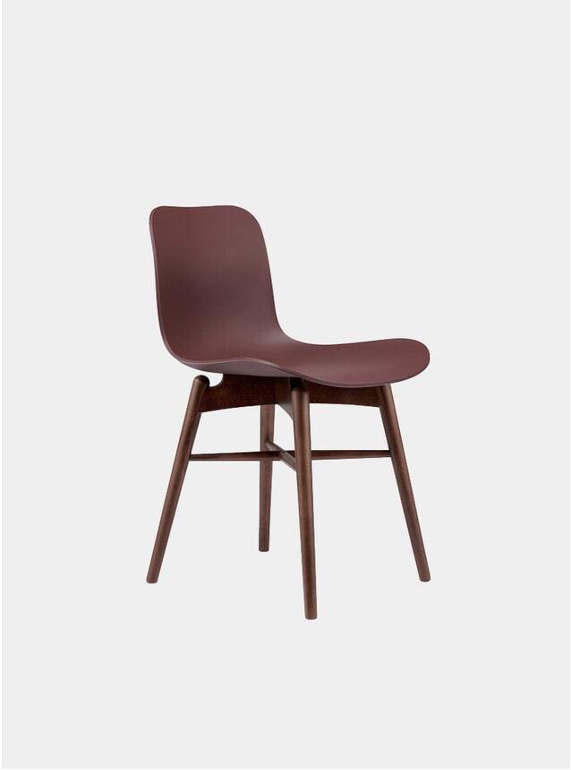 Burgundy / Dark Stained Dining Chair