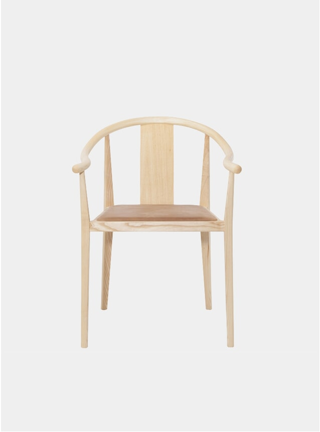 Camel Vintage Leather / Natural Shanghai Dining Chair