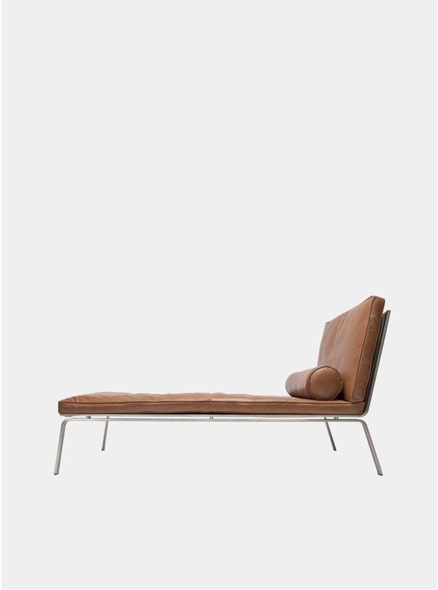 Cognac Leather Man Chaise Lounge