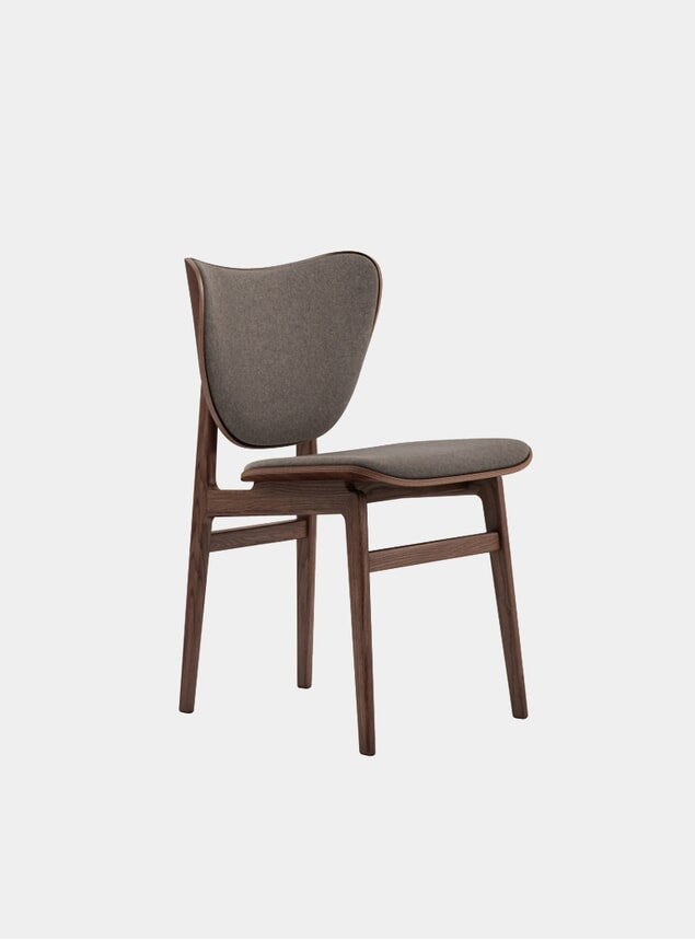 Fawn Wool / Dark Stained Elephant Dining Chair