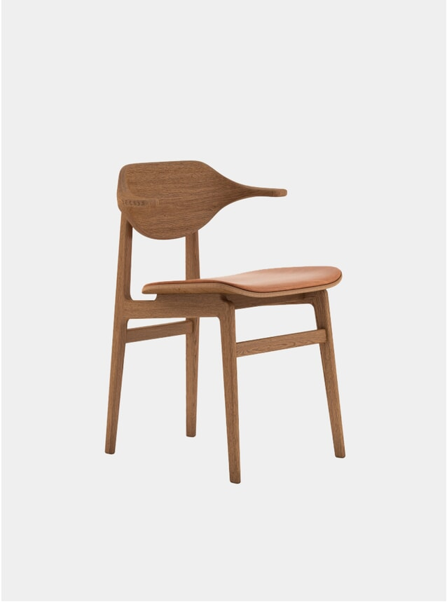 Smoked Oak / Vintage Leather Buffalo Dining Chair