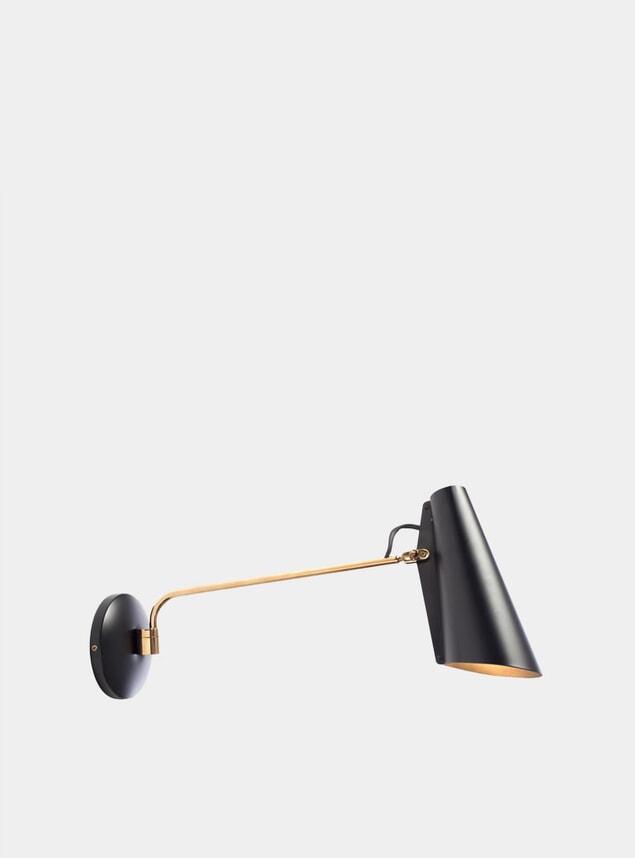 Black / Brass Birdy Wall Lamp