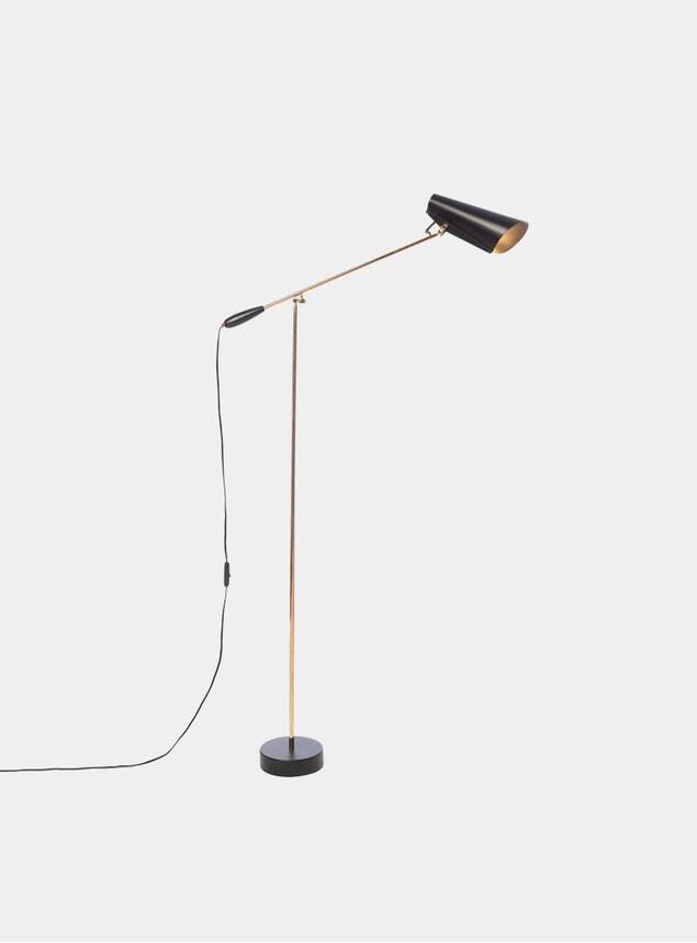 Black / Brass Birdy Floor Lamp
