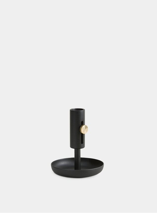 Black Granny Candle Holder Low