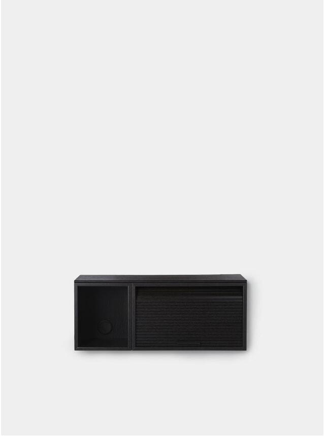 Black Painted Oak Hifive 75cm Slim Wall Cabinet