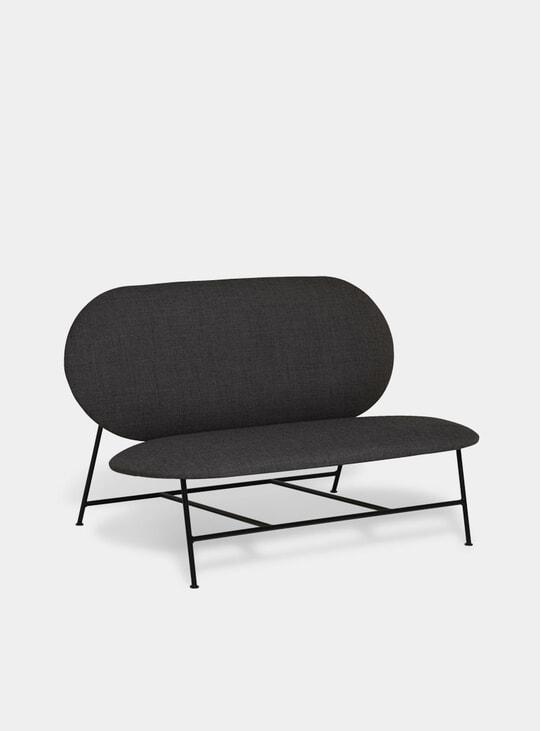 Dark Grey Oblong Sofa