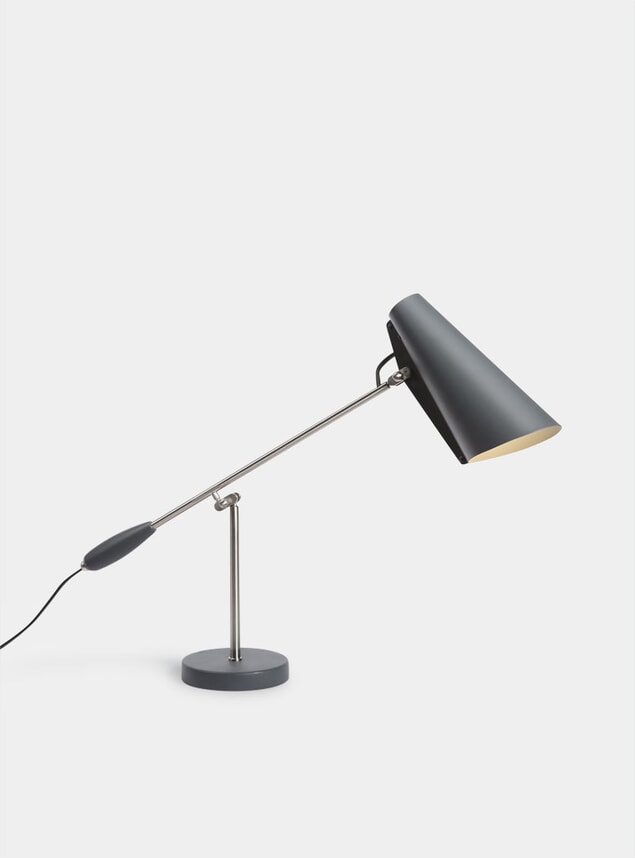 Grey / Steel Birdy Table Lamp