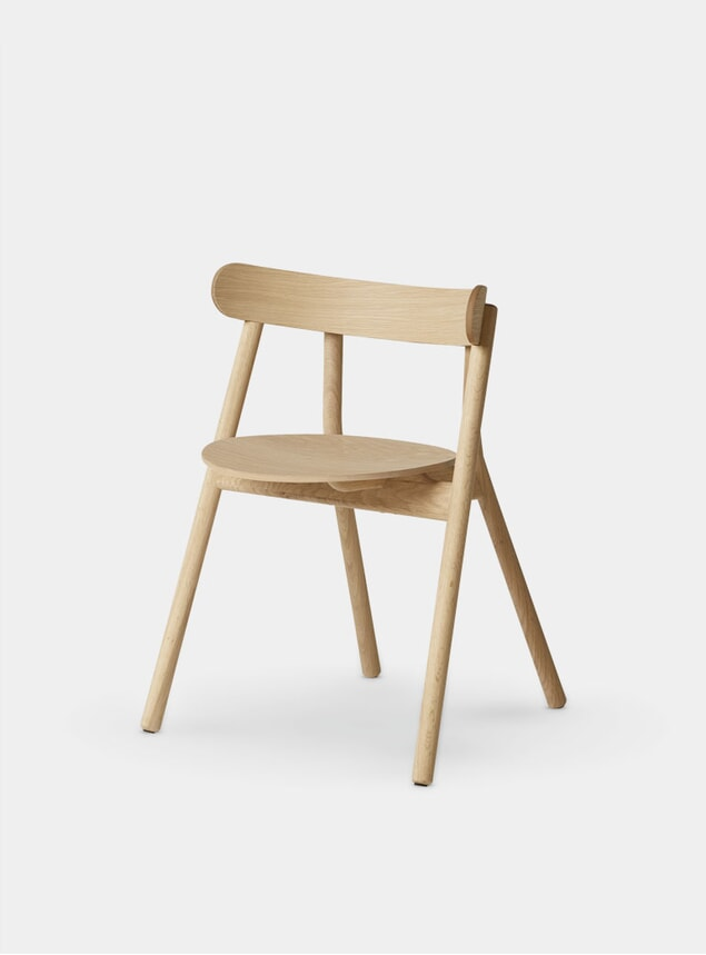 Light Oiled Oaki Dining Chair