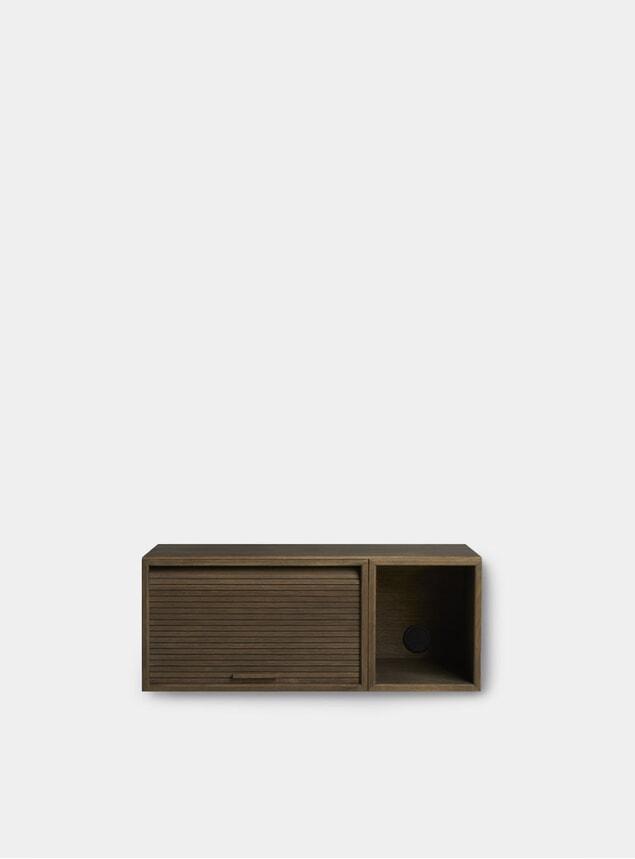 Smoked Oak Hifive 75cm Slim Wall Cabinet