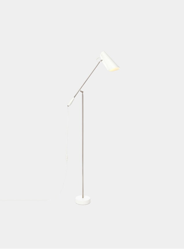 White / Metallic Birdy Floor Lamp
