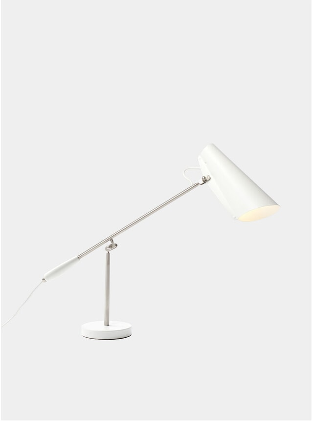 White / Steel Birdy Table Lamp