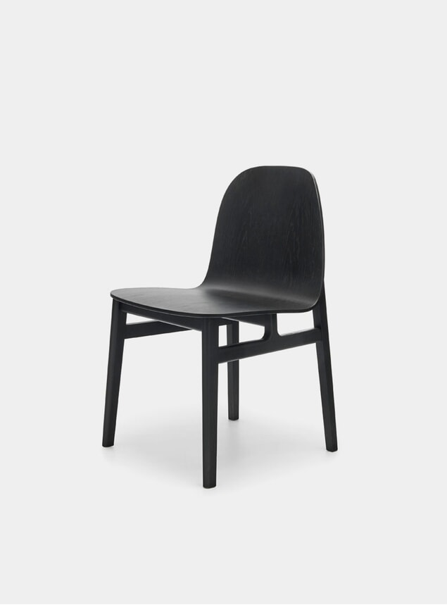 Black Oak Terra Wood Dining Chair