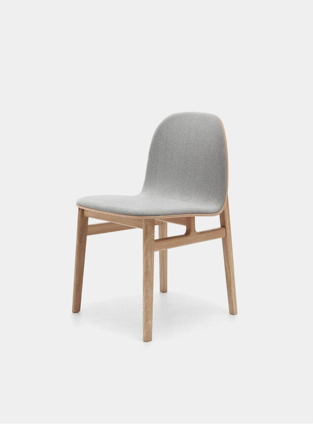 Grey / Natural Oak Terra Wood Dining Chair