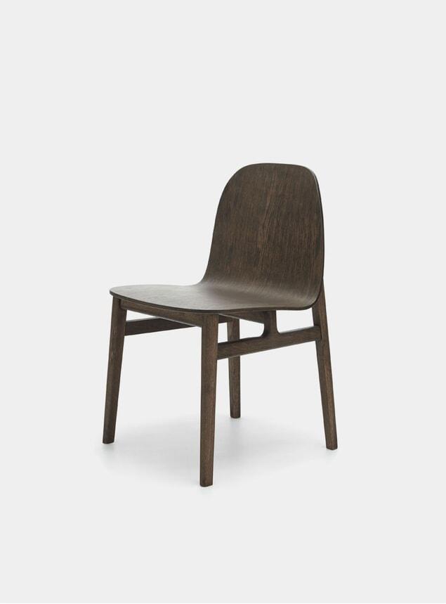 Smoked Oak Terra Wood Dining Chair
