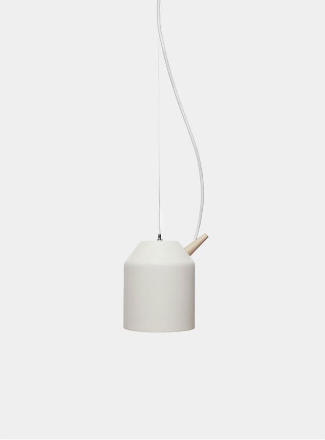 White / Oak Small Reeno Lamp