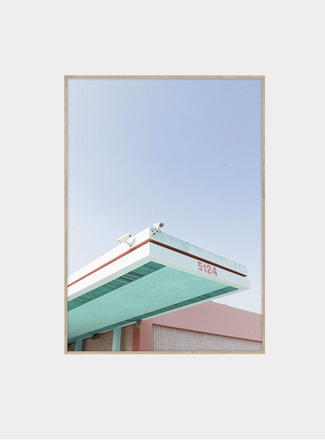 Los Angeles is PInk 01 Print by Mikal Storm