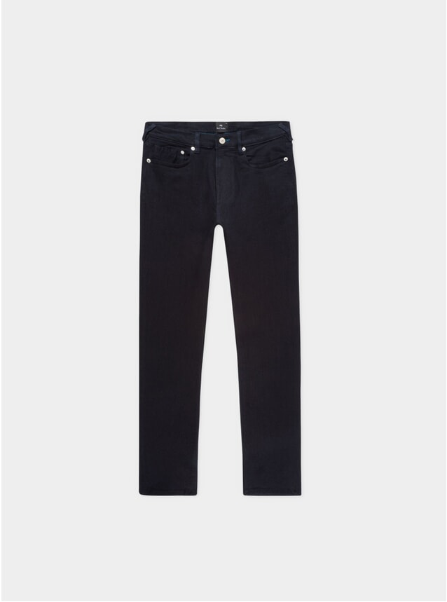 Dark Navy Blue / Black Reflex Slim Jeans