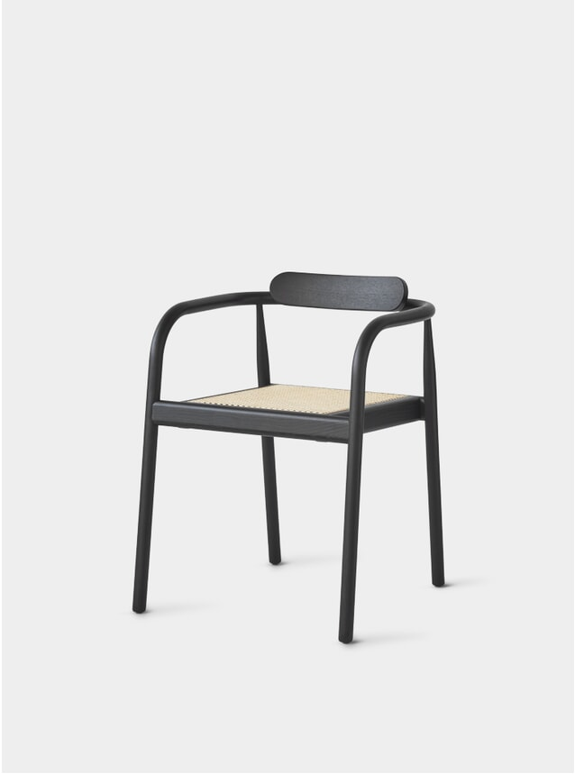 Black / Cane AHM Chair