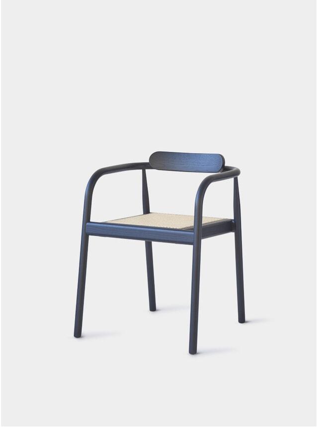 Navy Blue / Cane AHM Chair