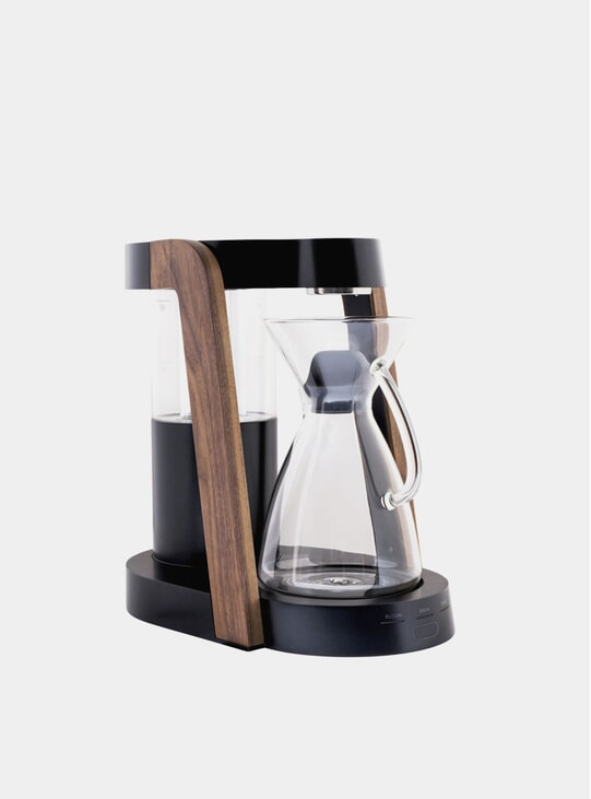 Dark Cobalt / Walnut Eight Coffee Maker