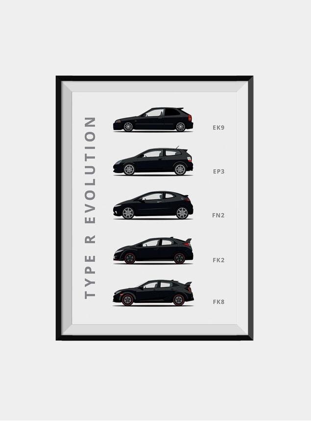 Honda Civic Type-R Car Print