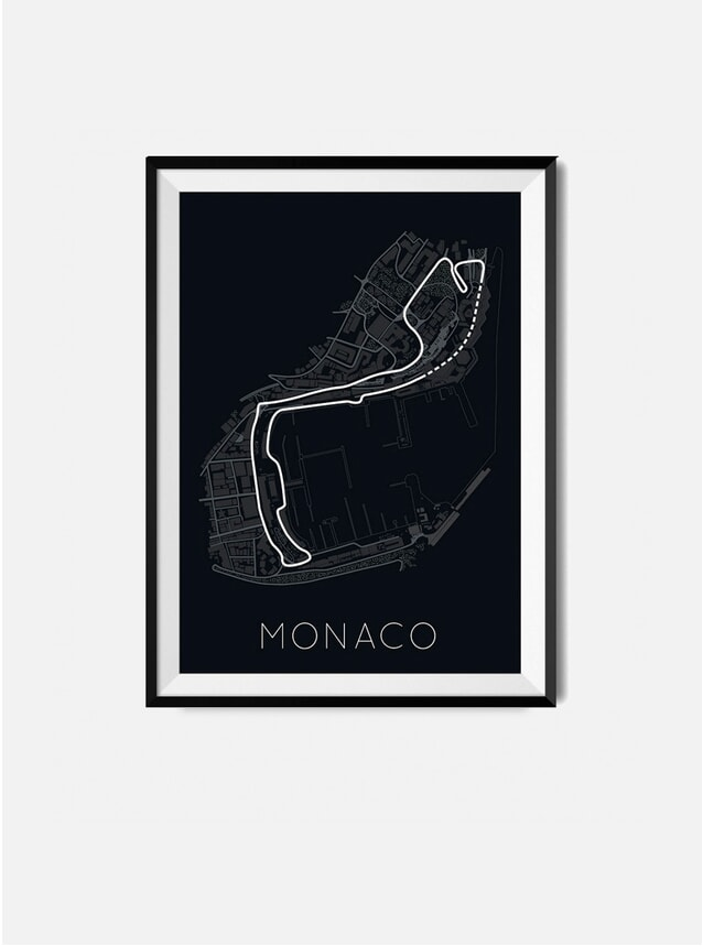 Monaco F1 Track Print