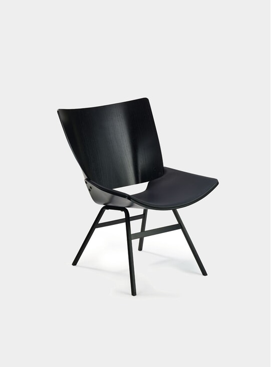Black / Leather Shell Lounge Chair