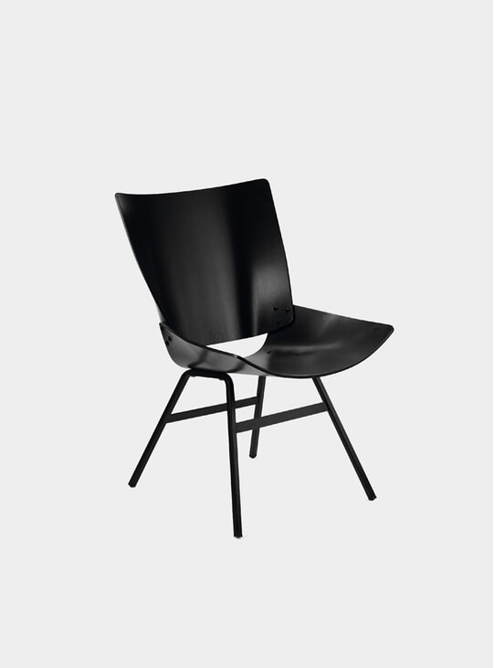 Black Shell Lounge Chair