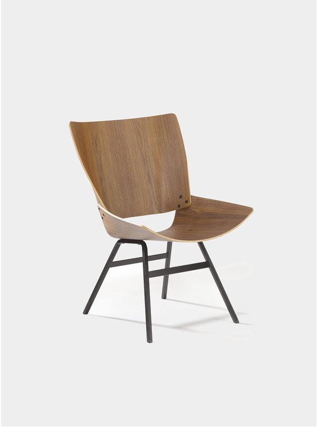 Walnut Shell Lounge Chair