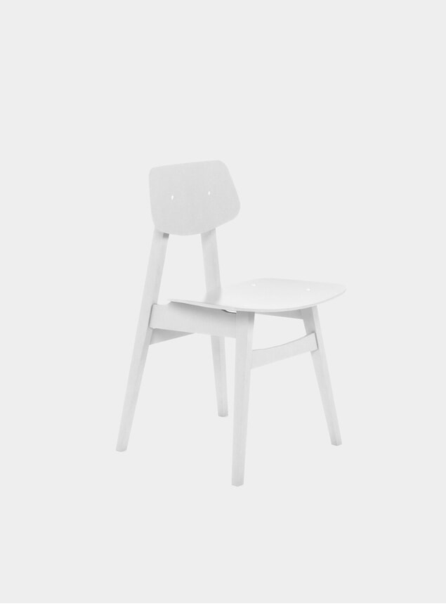 White 1960 Dining Chair