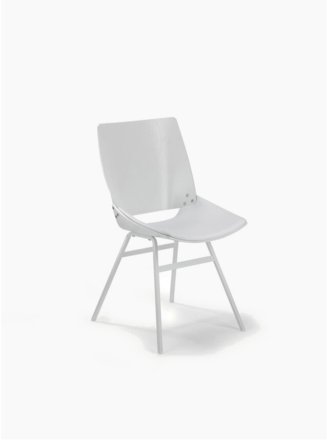White / Leather Shell Chair