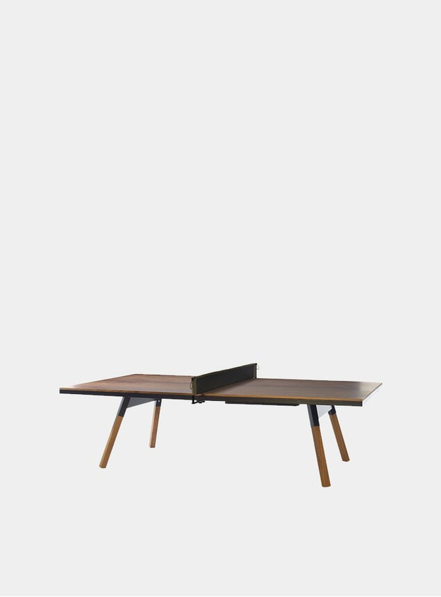 Black / Walnut You & Me Indoor Ping Pong Table