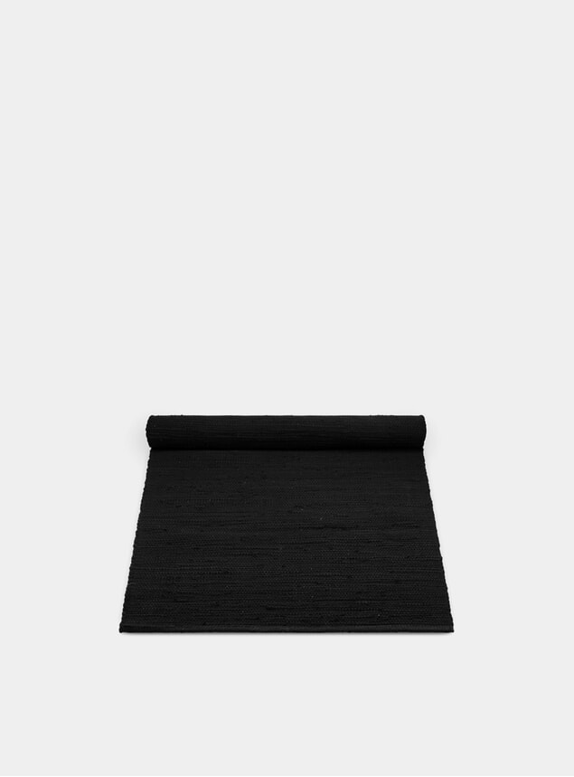 Black Cotton Rug