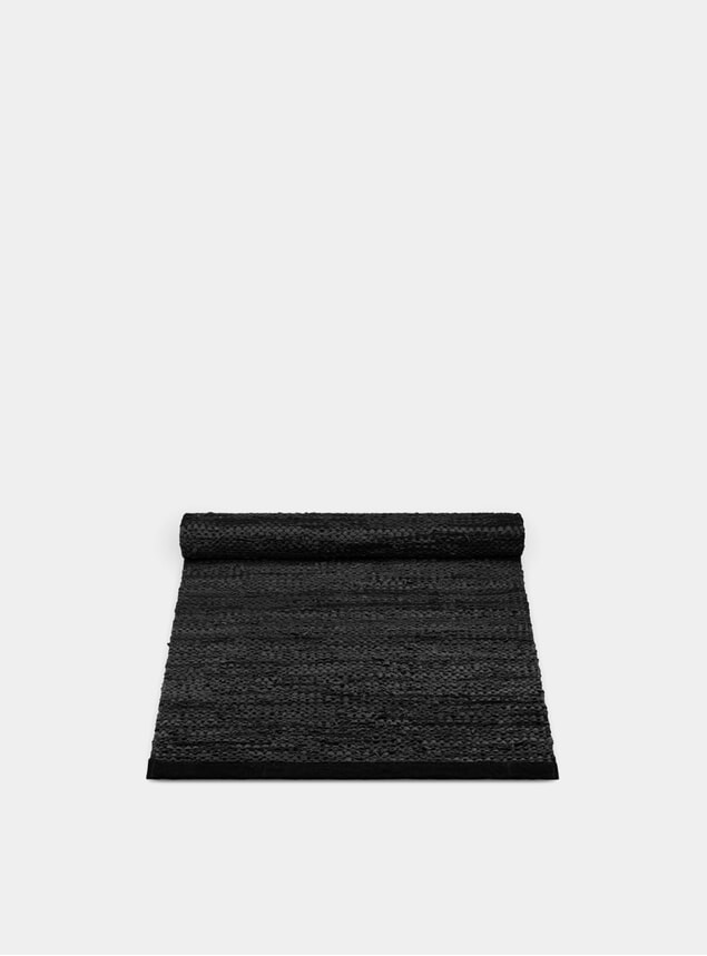 Black Leather Rug