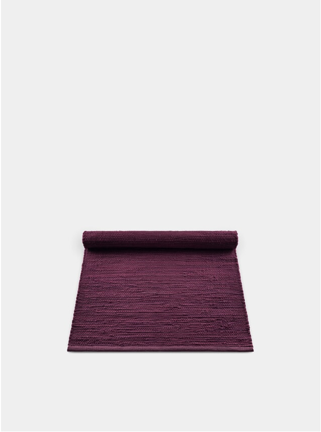 Bold Raspberry Cotton Rug
