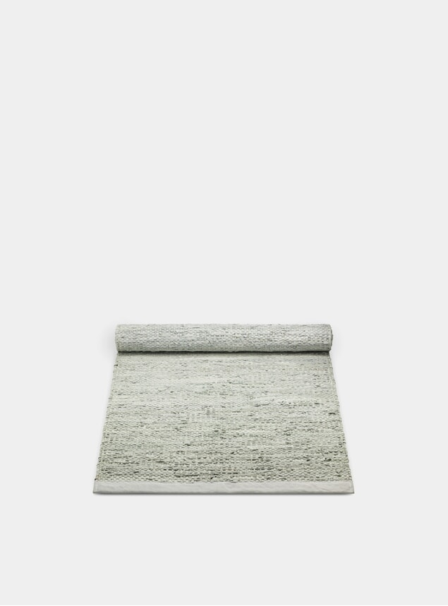 Limestone Leather Rug