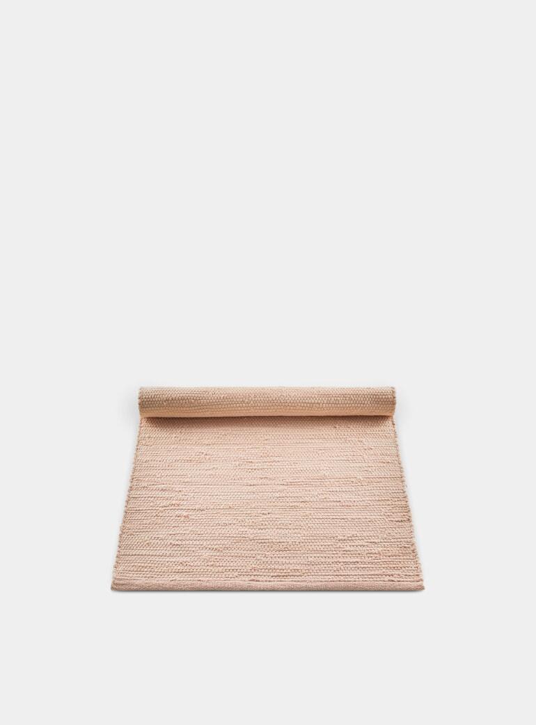 Rug Solid Soft Peach Cotton Rug | OPUMO
