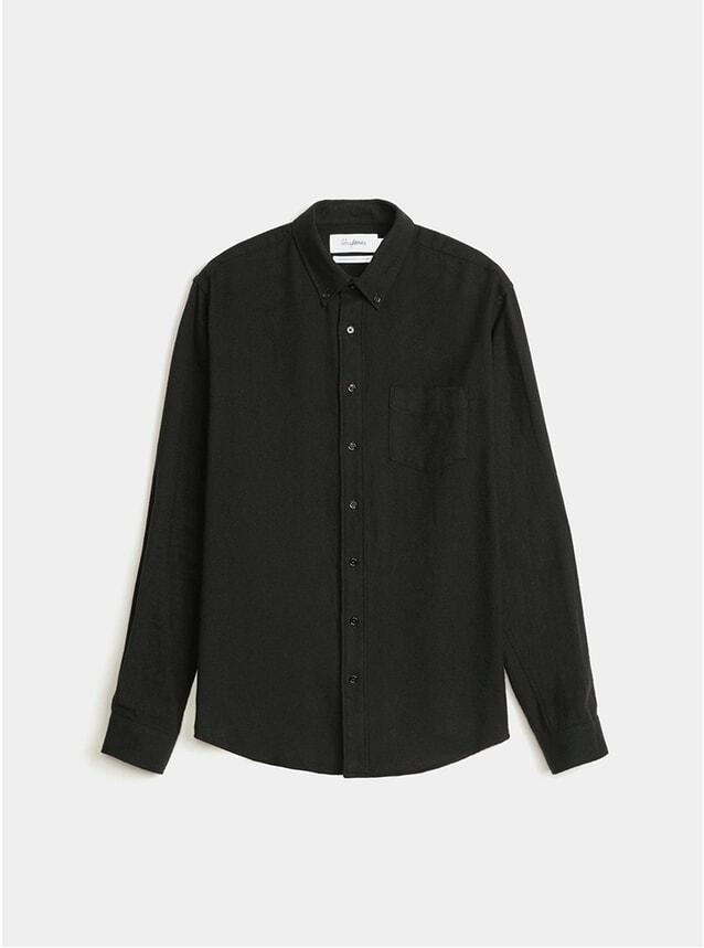 Black BD Twill Flannel Shirt