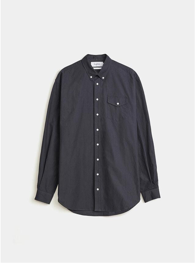 Dark Navy Oversized Trench Shirt