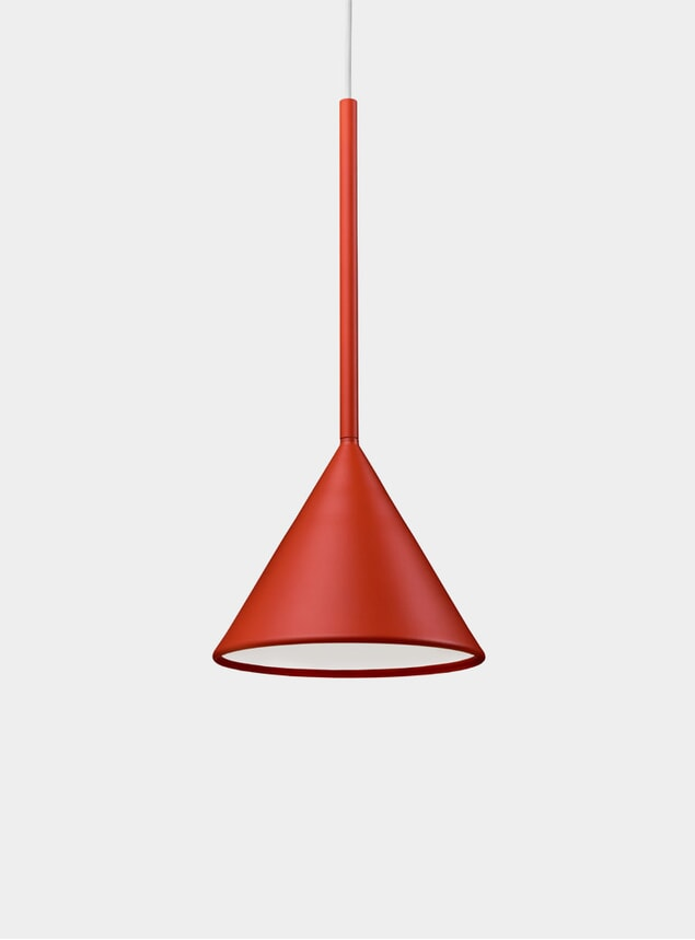 Burnt Orange Figura Cone Lighting