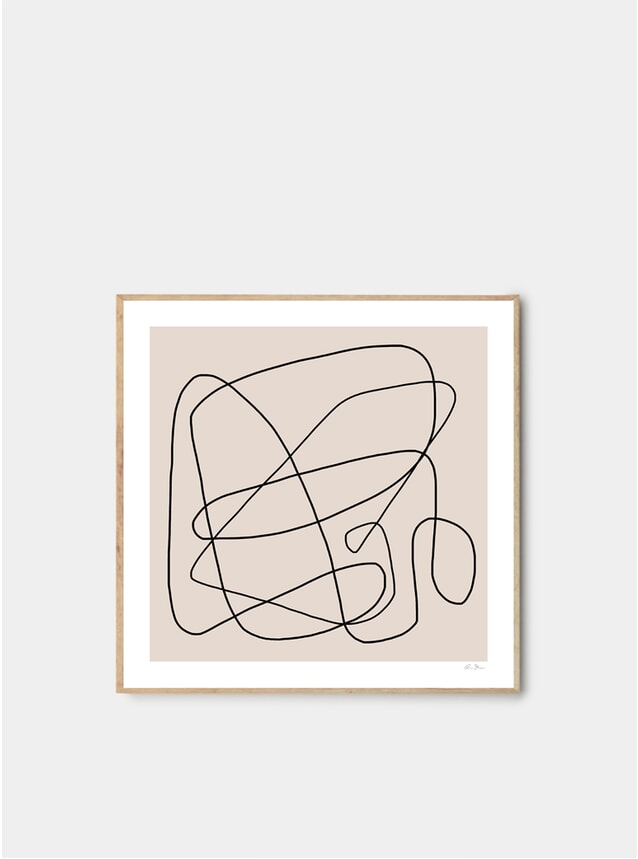 Abstract Lines 01 Print by Rubin Studio