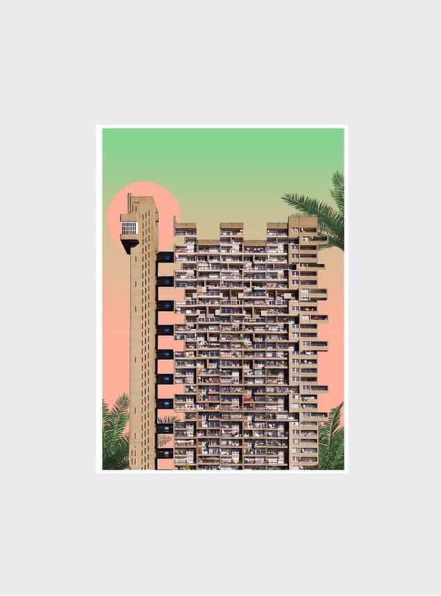 Sunrise / Trellick Tower Print