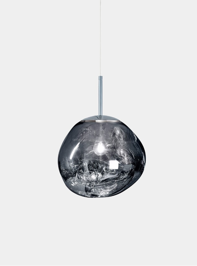 Chrome Mini Melt Pendant Light