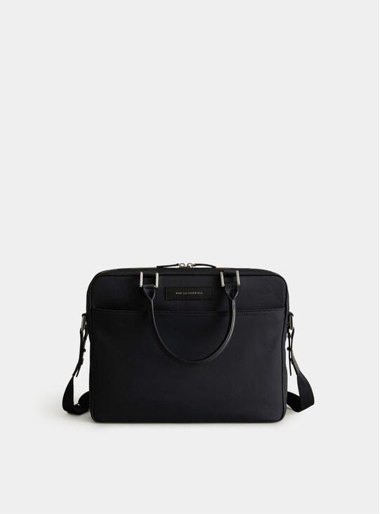 Black / Black Nylon Haneda Computer Bag