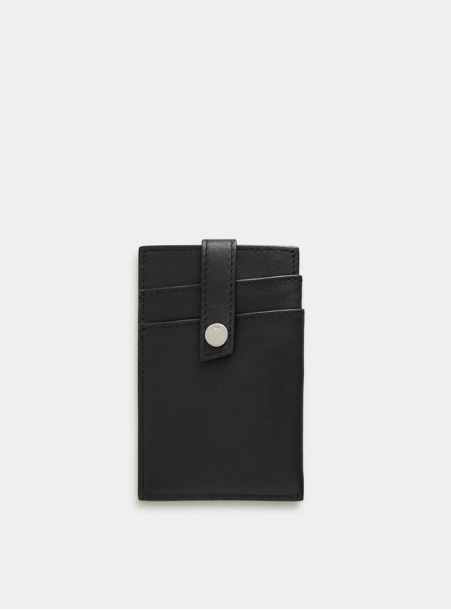 Black Kennedy Leather Money Clip Wallet