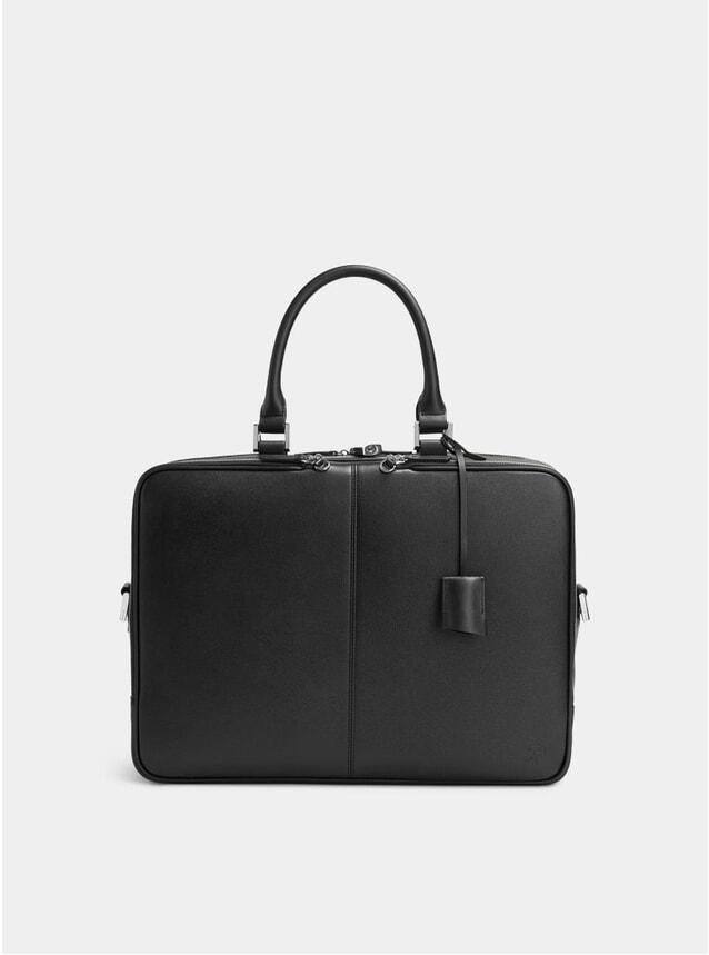 Black Trudeau 17 Caviar Leather Computer Bag