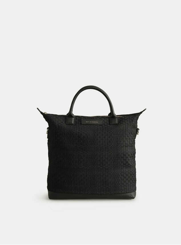 O'Hare Basketweave Shopper Tote