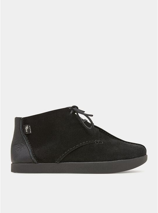 Black Elijah Tumbled Leather / Suede Negative Heel Shoes